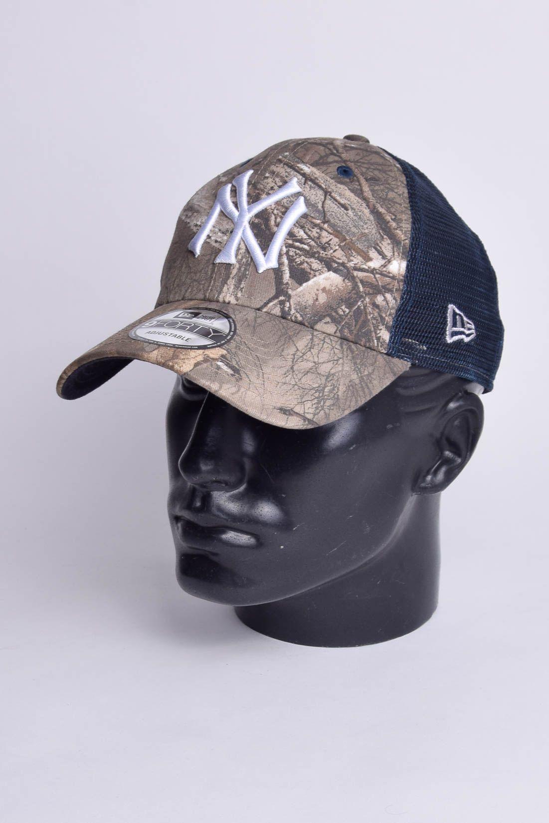 Boné MLB New York Yankees Tela Trucker Snapback Aba Curva New Era