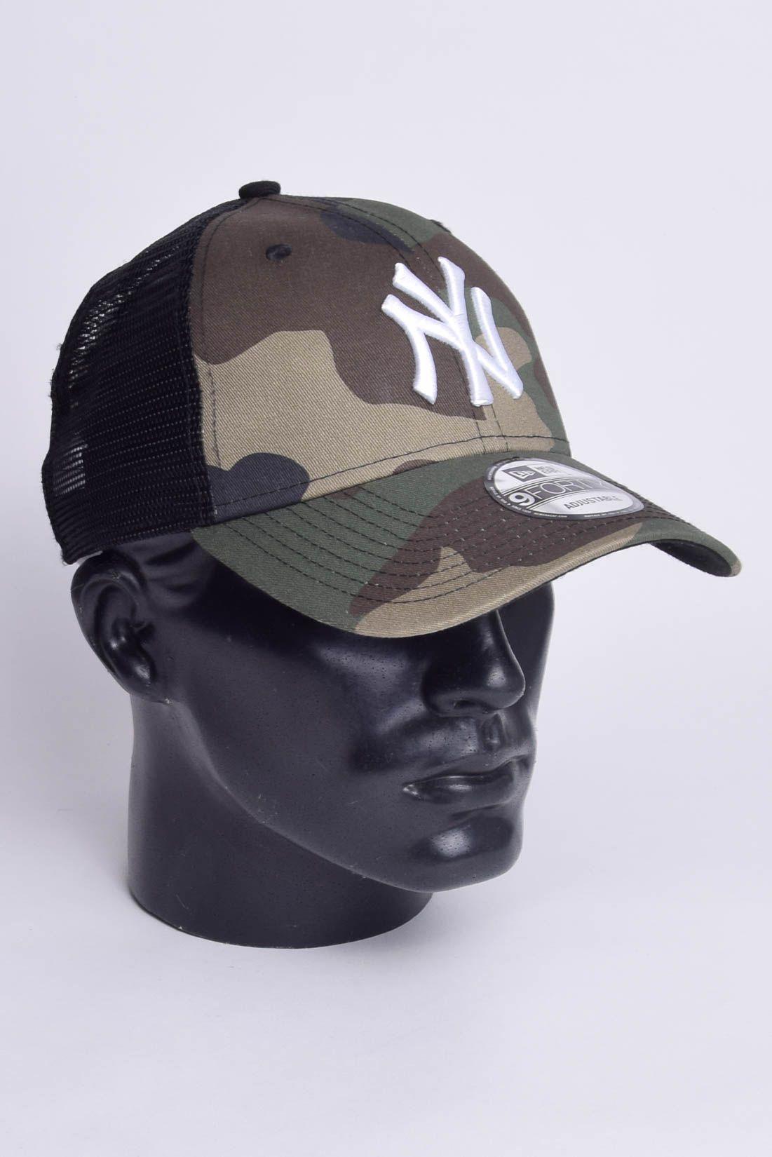Boné MLB New York Yankees Tela Trucker Snapback Camuflado New Era
