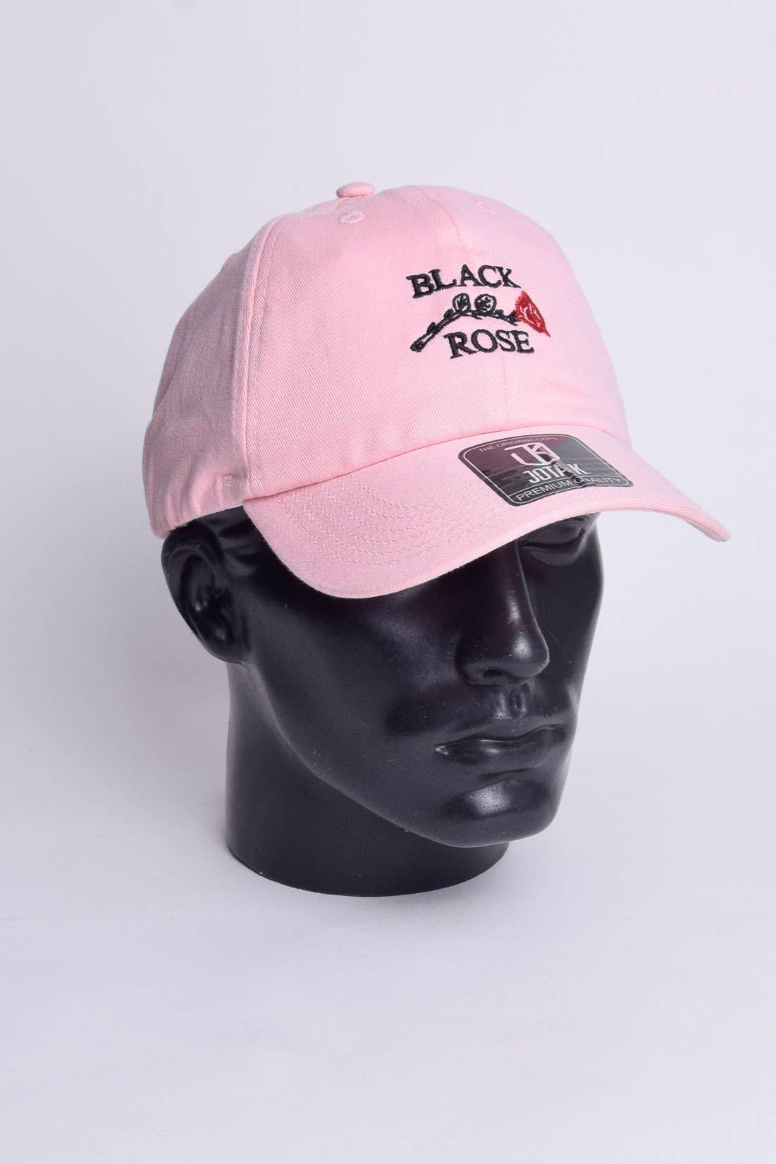 Boné Strapback Black Rose Dad Hat  Aba Curva Jota K