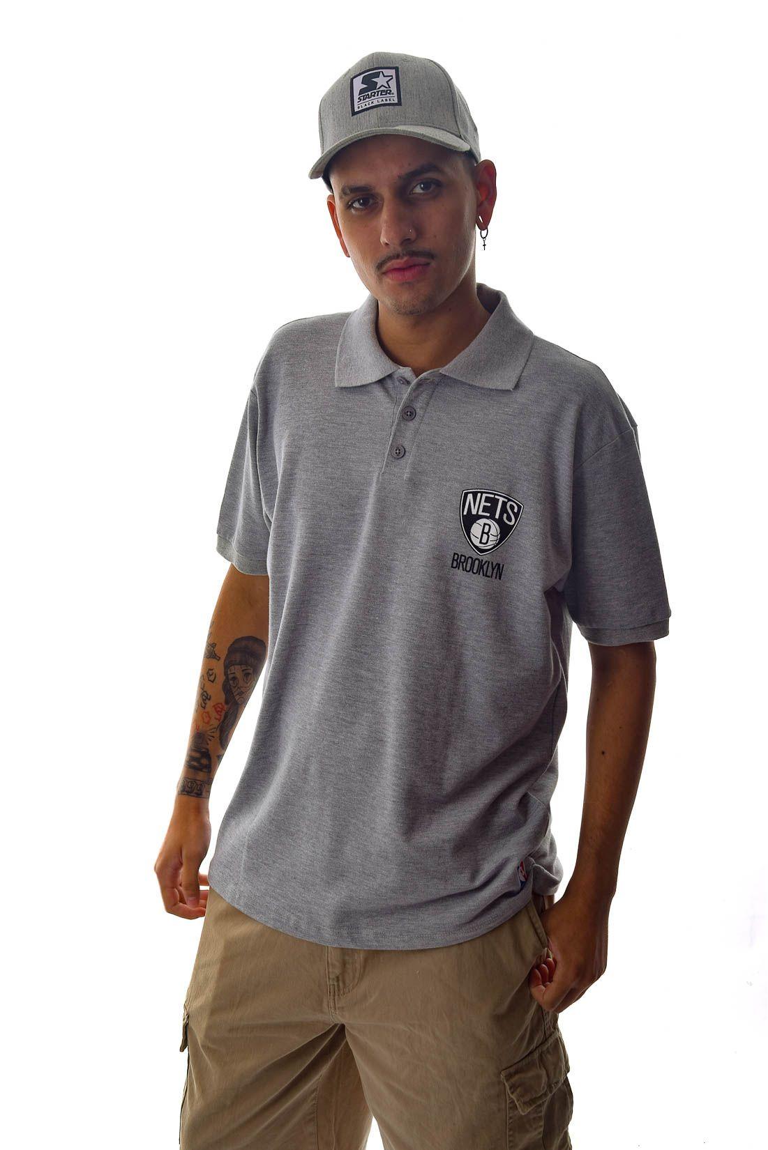 Camisa Polo NBA Brooklin Nets