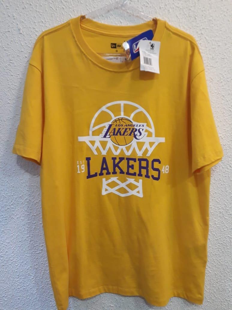 Camiseta Essentials Basquete Lakers New Era