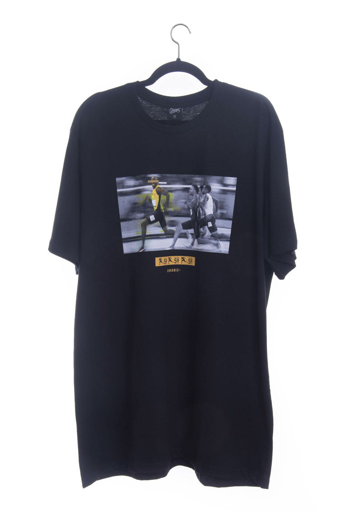 Camiseta Extra Usain Bolt Restam Cinco Chronic