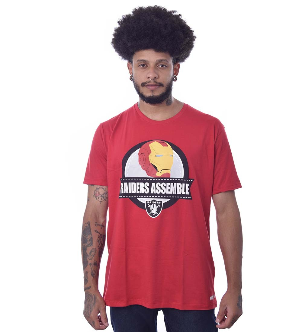 Camiseta Marvel Homem de ferro Oakland Raiders