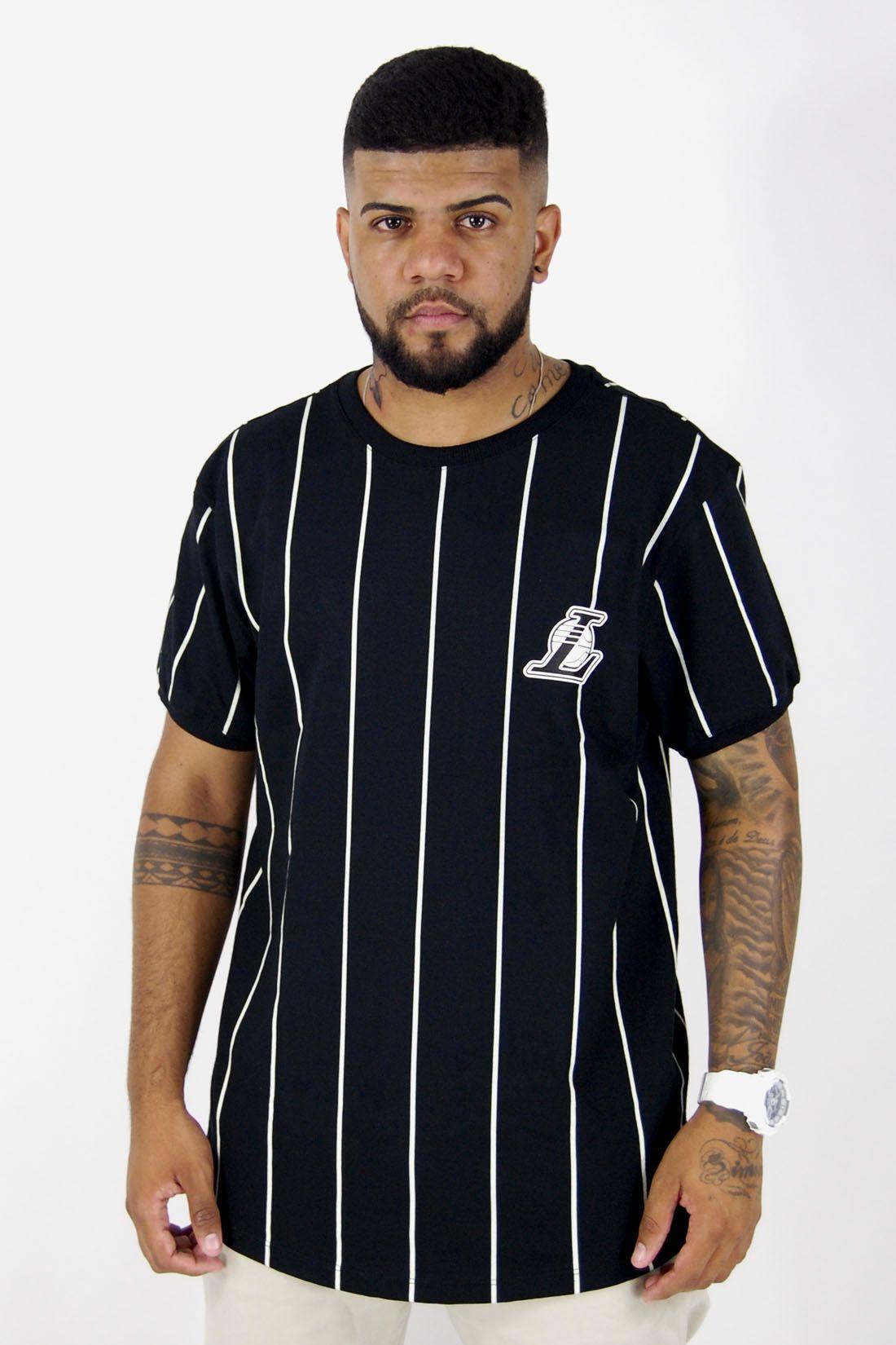 Camiseta NBA Los Angeles Lakers Stripes NBA