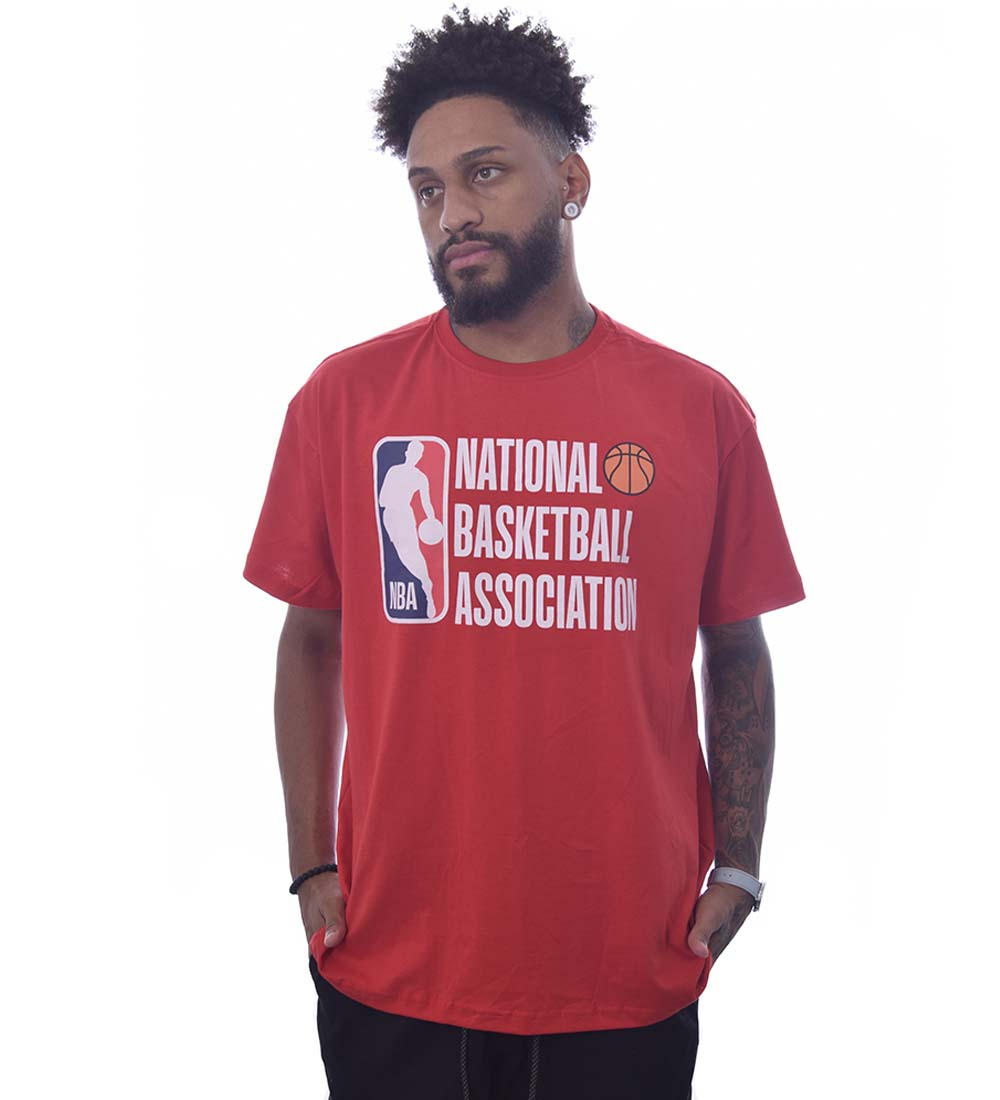 Camiseta NBA Manga Curta Plus size