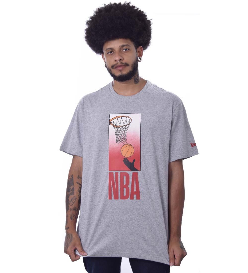 Camiseta Plus Size New Era NBA Playing