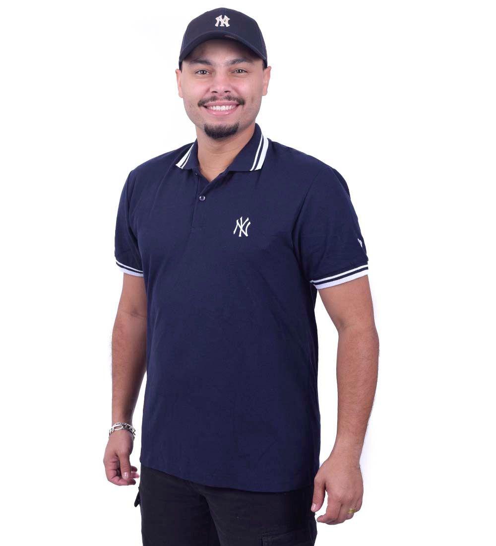 Camiseta Polo Basico Essentia New York Yankees  New Era