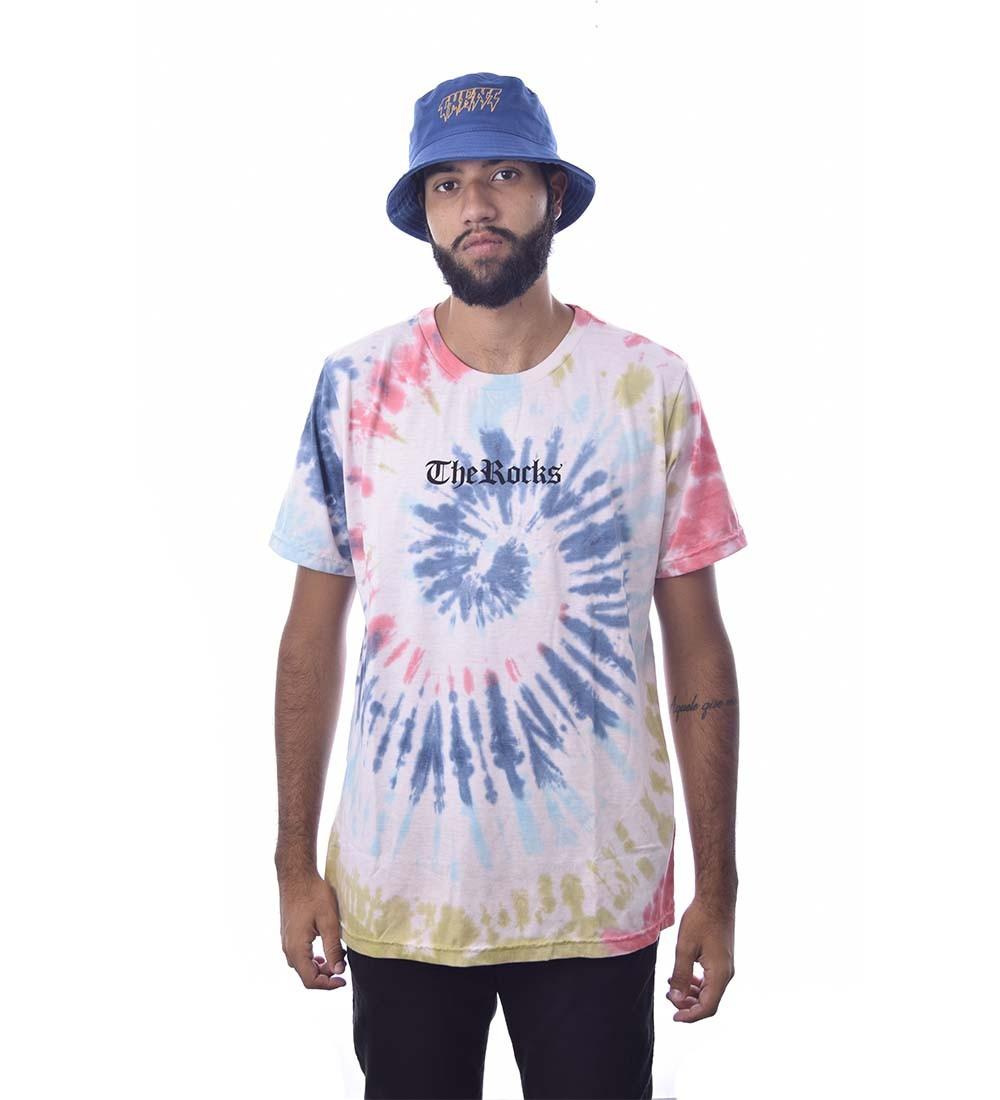 Camiseta Tie Dye The Rocks Manga Curta