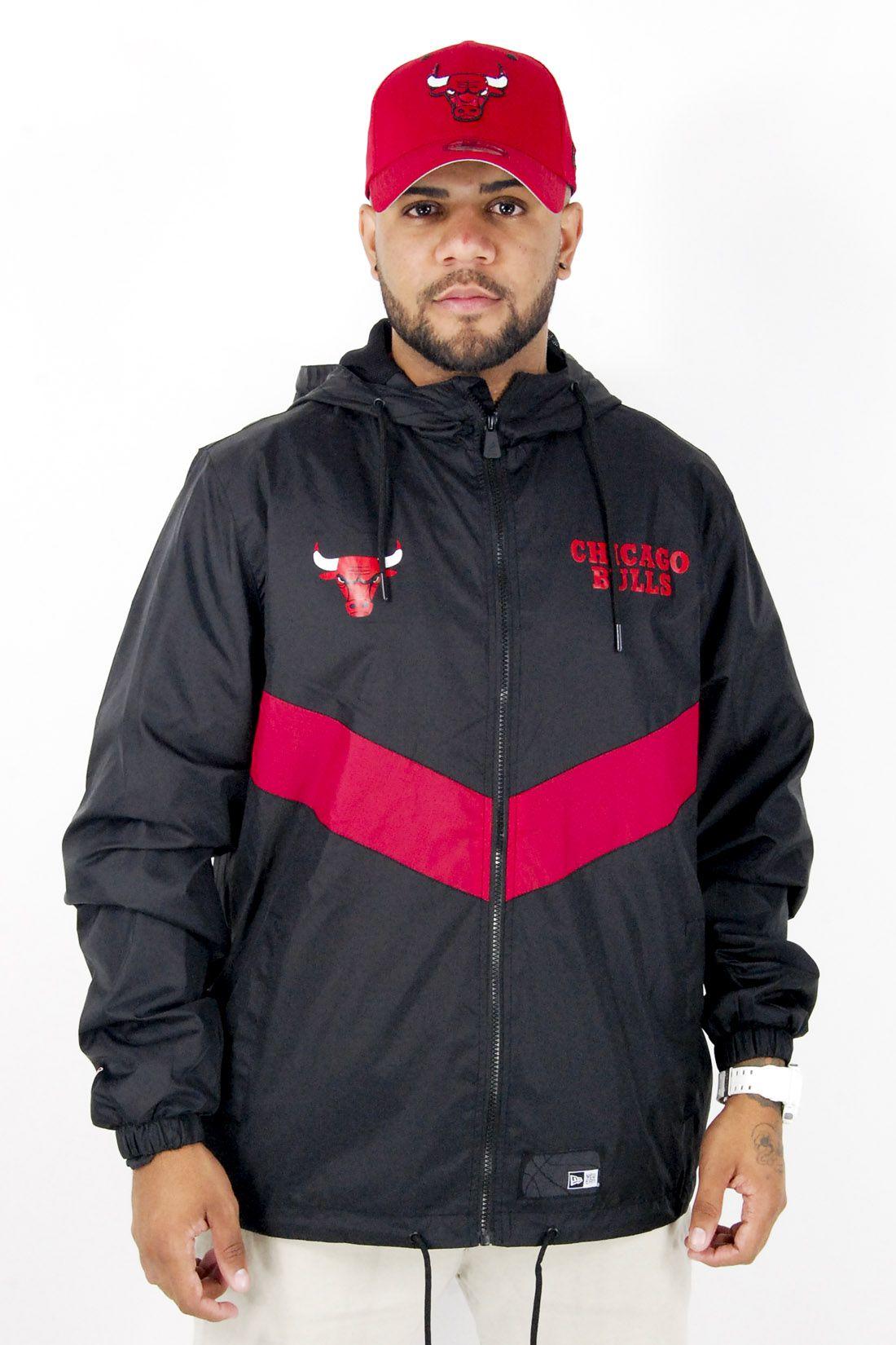 Jaqueta Corta-Vento NBA Chicago Bulls New Era