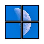 Quadro Mosaico 72x72cm Moon C/ Mold.