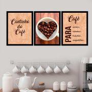 Kit 3 Quadros Decorativos Café Para Acordar
