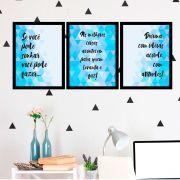 Kit 3 Quadros Decorativos Se Você Pode Sonhar, Você Pode Faz