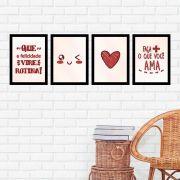 Kit 4 Quadros 27x36 Faça Mais o Que Você Ama