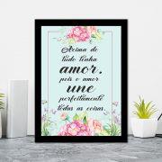 Quadro Decorativo 27x36 Acima de Tudo Tenha Amor