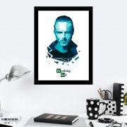 Quadro Decorativo 27x36 Arte Digital Azul Breaking Bad