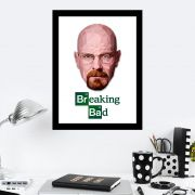 Quadro Decorativo 27x36 Arte Digital Breaking Bad