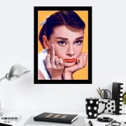Quadro Decorativo 27x36 Audrey Middle Finger