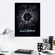 Quadro Decorativo 27x36 Black Mirror Vidro