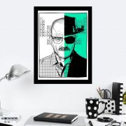 Quadro Decorativo 27x36 Breaking Bad Respect the Chemistry