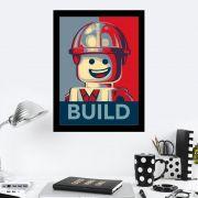 Quadro Decorativo 27x36 Build Lego