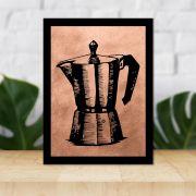 Quadro Decorativo 27x36 Bule de Café