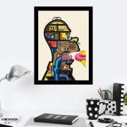 Quadro Decorativo 27x36 Cabeça do Homer