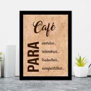 Quadro Decorativo 27x36 Café Para Acordar
