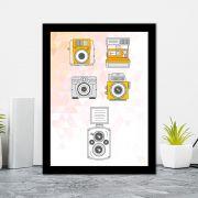 Quadro Decorativo 27x36 Câmeras Fotograficas