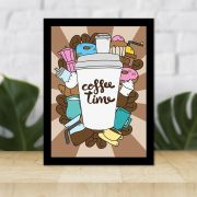 Quadro Decorativo 27x36 Coffe Time