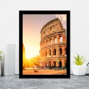Quadro Decorativo 27x36  Coliseu Pôr do Sol