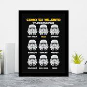 Quadro Decorativo 27x36 Como Eu Me Sinto By Stormtroopers
