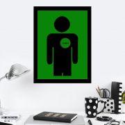 Quadro Decorativo 27x36 Coração Vazio Homem