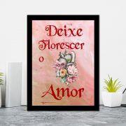 Quadro Decorativo 27x36 Deixe Florescer o Amor