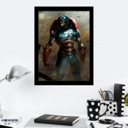 Quadro Decorativo 27X36 Desenho Capitão América Guerra