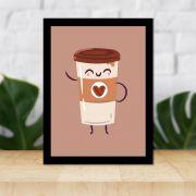 Quadro Decorativo 27x36 Desenho Copo de Café