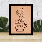 Quadro Decorativo 27x36 Desenho Xícara de Café