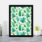 Quadro Decorativo 27x36 Diversos Folhas Tropicais