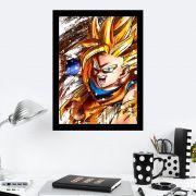 Quadro Decorativo 27x36  Dragon Ball Fighterz