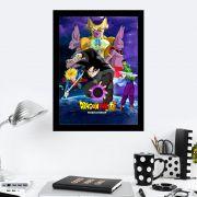 Quadro Decorativo 27x36 Dragon Ball Super Fundo Roxo