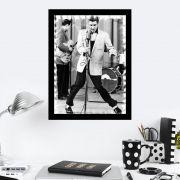 Quadro Decorativo 27x36 Elvis Presley Dançando