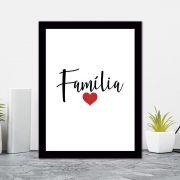 Quadro Decorativo 27x36 Família