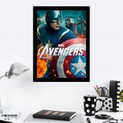 Quadro Decorativo 27X36 Filme Avengers Capitão América e Gavião Arqueiro