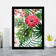 Quadro Decorativo 27x36 Flores Tropicais