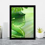 Quadro Decorativo 27x36 Folhagem Fundo Verde -2