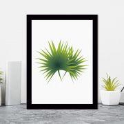 Quadro Decorativo 27x36 Folhagem Tropical