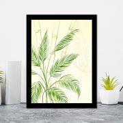 Quadro Decorativo 27x36 Folhas de Bambu