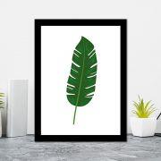 Quadro Decorativo 27x36 Folhas Tropicais - 2