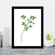 Quadro Decorativo 27x36 Folhas Tropicais