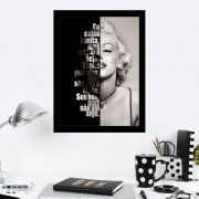 Quadro Decorativo 27x36 Frase Marilyn Monroe