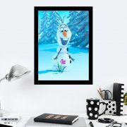 Quadro Decorativo 27X36 Frozen Olaf